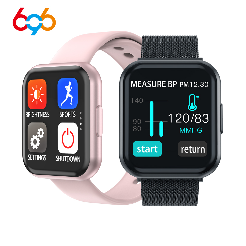 696 T88 Full Touch Smart Watch Fashion Bracelet Waterproof Fitness Activity Tracker Heart Rate Monitor Swim Sport Smartwatch for image