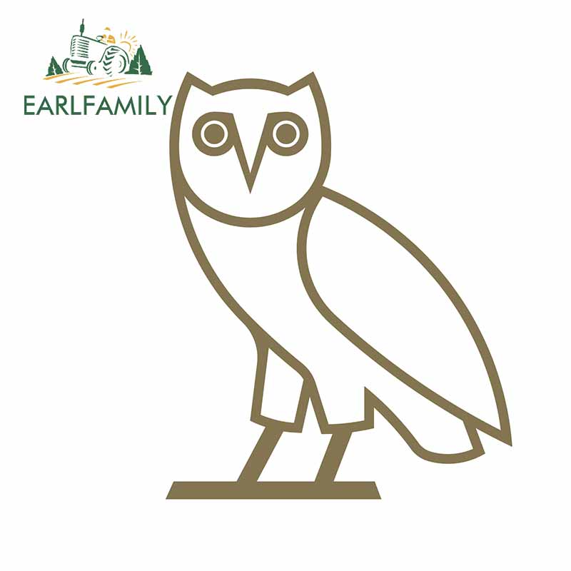 EARLFAMILY 13cm X 10.5cm For OVO Car Stickers And Decals Vinyl Occlusion Scratch Suitable For The Whole Body High Quality Decals