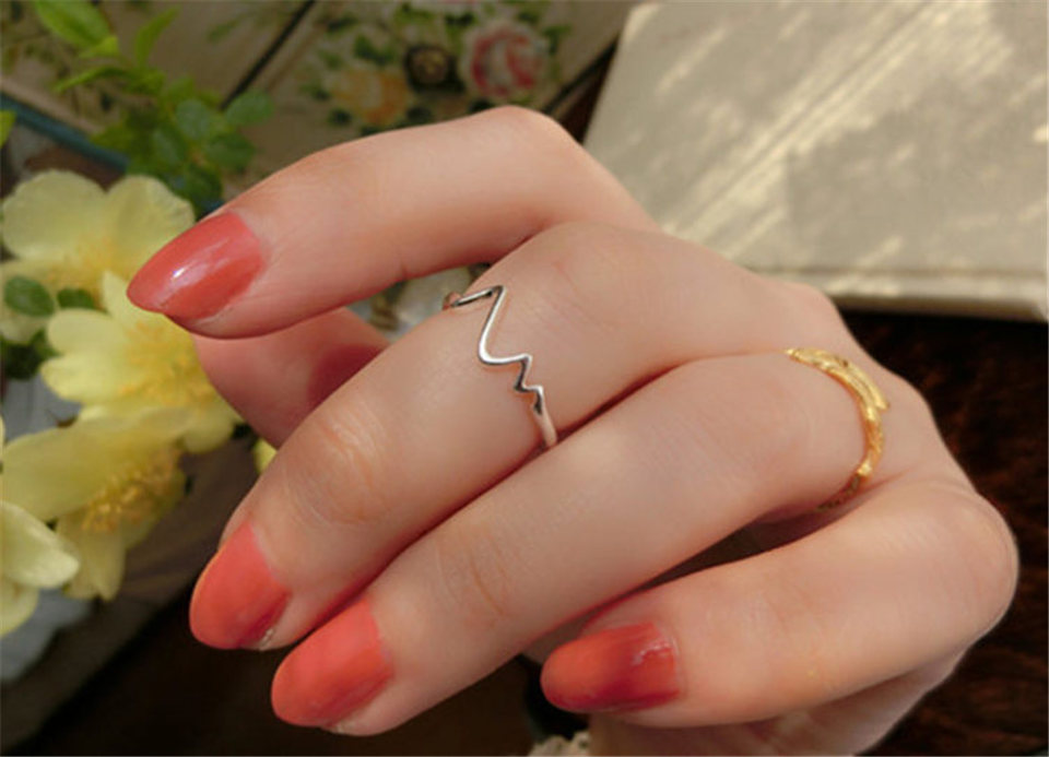 h PISSENLIT Hot Simple Adjustable Silver Ring Set Wave Ring Women Jewelry Korean Trendy Wedding Rings For Women Accessories Gifts