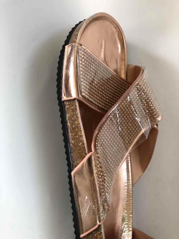 Yazlık terlik çapraz kemer sandalet 2020 moda kadın sandalet düz kristal ayakkabı plaj ayakkabısı ev rahat Zapatos De Mujer