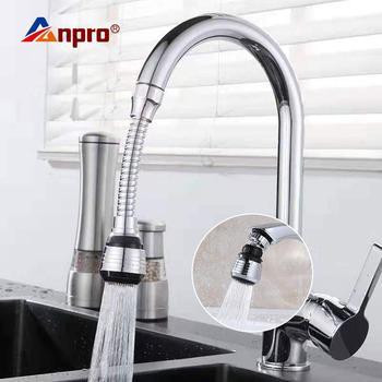 Anpro 360 stopni obrotowy kran kuchenny Aerator regulowany podwójny tryb opryskiwacz filtr dyfuzor reduktor przepływu wody kran złącze tanie i dobre opinie Aeratorów AHC0005 Z tworzywa sztucznego