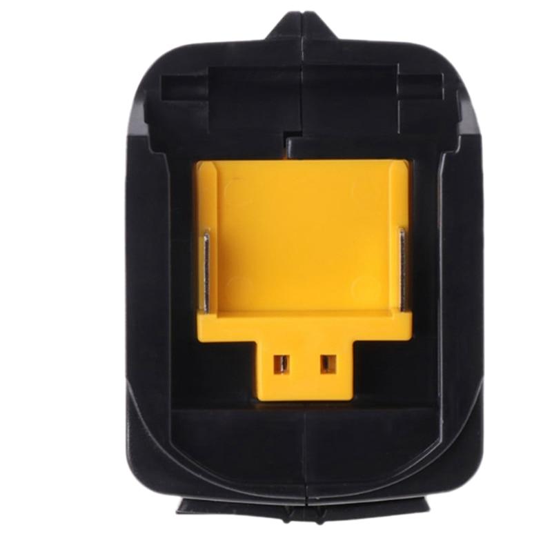 JABS Usb Power Charging Adapter Converter For Makita Adp05 Bl1815 Bl1830 Bl1840 Bl1850 1415 14.4-18V Li-Ion Battery Black