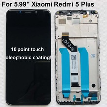 "Originele Nieuwe Voor 5.99 ""Xiaomi Redmi 5 Plus Lcd scherm Touch Digitizer Frame Voor Redmi 5 Plus Lcd display Touch Screen"