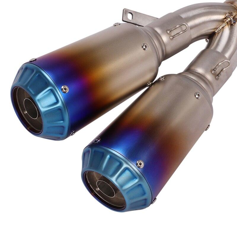 Глушитель выхлопной трубы 2 шт глушитель с соединительными трубками