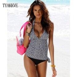 TYAKKVE 2020, танкини, купальник размера плюс, для женщин, Ретро стиль, большой купальник, пляжная одежда, принт, купальник, высокая талия, женский ... 4