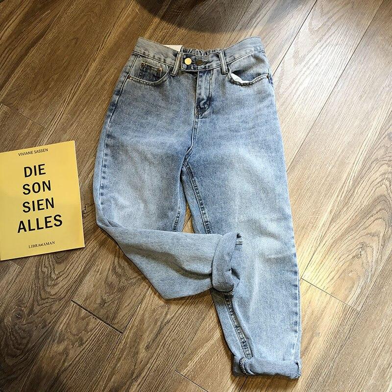 Mooirue Spring Summer Women Mom Jeans Highwaist Denim Pant Woman Harajuku Korean Thin Long Wide Leg 2019 Woman Bottom