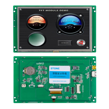 7.0 Inch 800*480 TFT LCD Controller Touch Panel with Serial Interface Support Any MCU tft screen 3 5 lcd touch panel controller board uart interface support any mcu