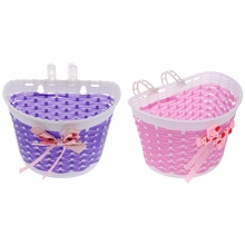 2Pcs Kids Cycling Bike Bicycle Handlebar Bag Front Basket Pouch Detachable Bicycle Accessories 2pcs kids cycling bike bicycle handlebar bag front basket pouch detachable bicycle accessories