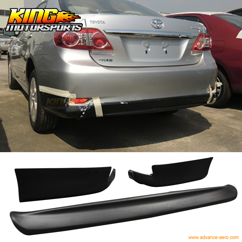 Fit For 11-13 E140 Toyota Corolla S 10 & 10.5 Gen Conversion Rear Bumper Lip Sport PP