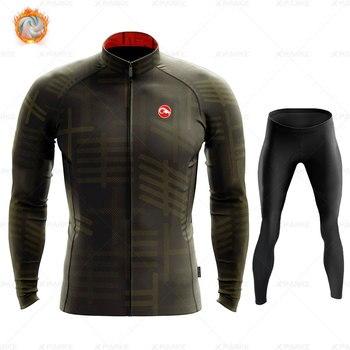 2020 velo de inverno pro conjunto camisa ciclismo mountian bicicleta roupas wear ropa ciclismo corrida roupas ciclismo conjunto 14