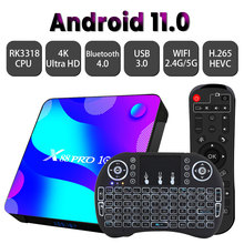 Tv-Receiver Top-Tv-Box Bluetooth RK3318 Android 11.0 Transpeed H.265 5G 128G X88 64G