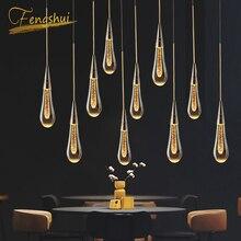 Nowoczesny żyrandol LED salon willa odzież oświetlenie wewnętrzne Decor żyrandole kryształowe oświetlenie kuchnia loft lampy wiszące
