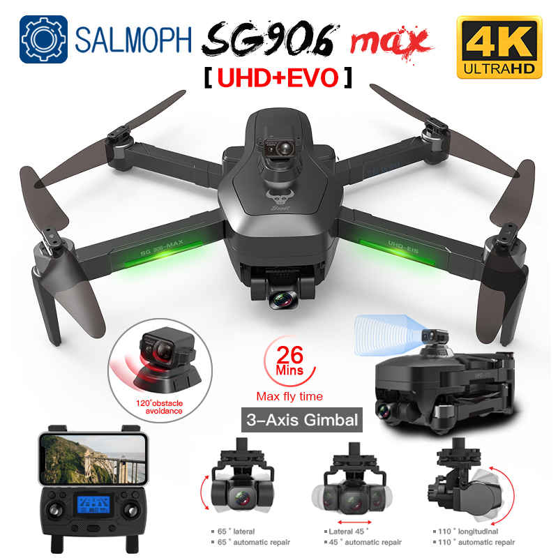 SG906 Pro 2 / SG906 MAX GPS Drone with Wifi 4K HD Camera 3-Axis Gimbal Brushless Professional Quadcopter Obstacle Avoidance Dron