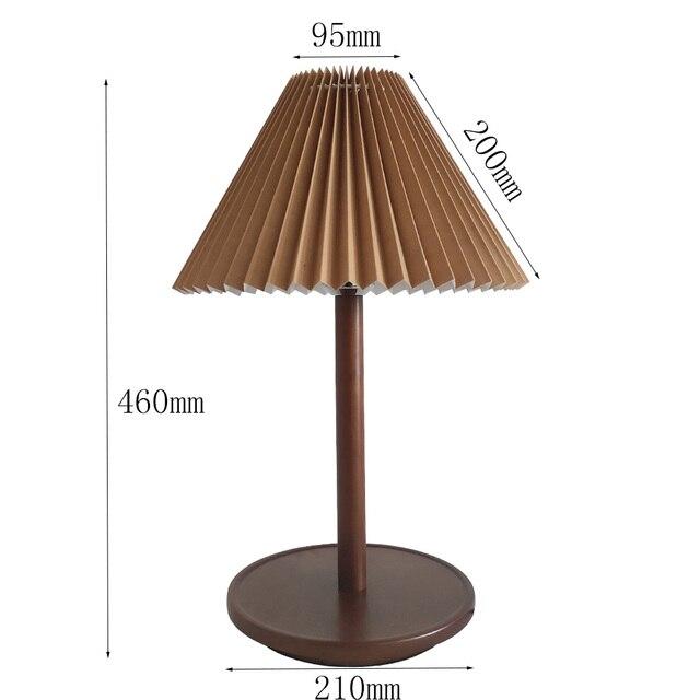 Винтажная настольная лампа кофейного цвета из цельной древесины