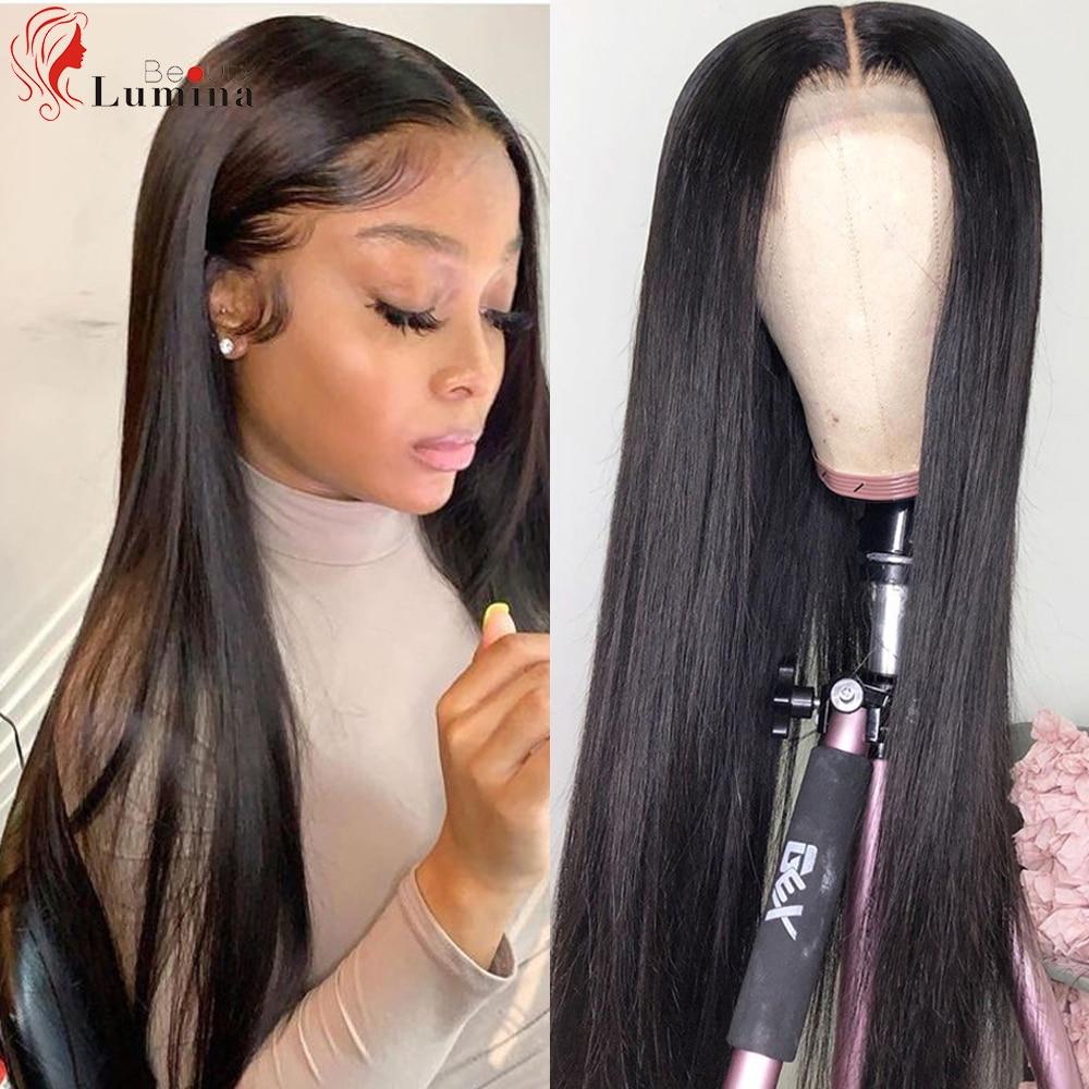 13x4 13x6 perucas dianteiras do cabelo humano do laço em linha reta pre arrancadas 180% perucas frontais do laço 10- 30 polegadas perucas brasileiras do laço de remy para a mulher