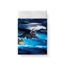 How To Train Your Dragon Bed Sheet Posciel Bed Linen Poplin Cotton Lencol Cama Casal Couple Single Euro Kid Twin Xl Bedding king(China)