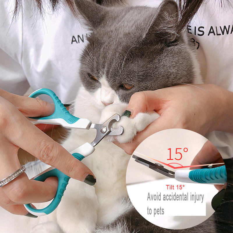 Pet Nail Claw Cutter Stainless Steel Grooming Scissors 1pc Cats Nails Clipper Trimmer Dog Nail Clippers Pet Claw Nail Supplies image