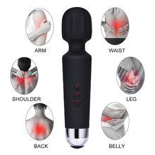 G ponto coelho av vibrador para mulher dupla recarregável à prova ddual água massageador handheld pessoal pescoço de volta ombro massa h3