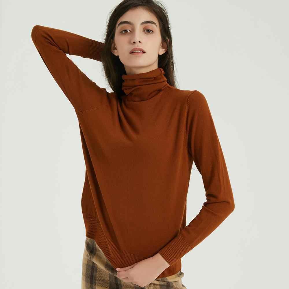 Wixra, женские мягкие однотонные трикотажные футболки, Женская водолазка с длинным рукавом, базовая футболка, Осень-зима, базовый пуловер, топы