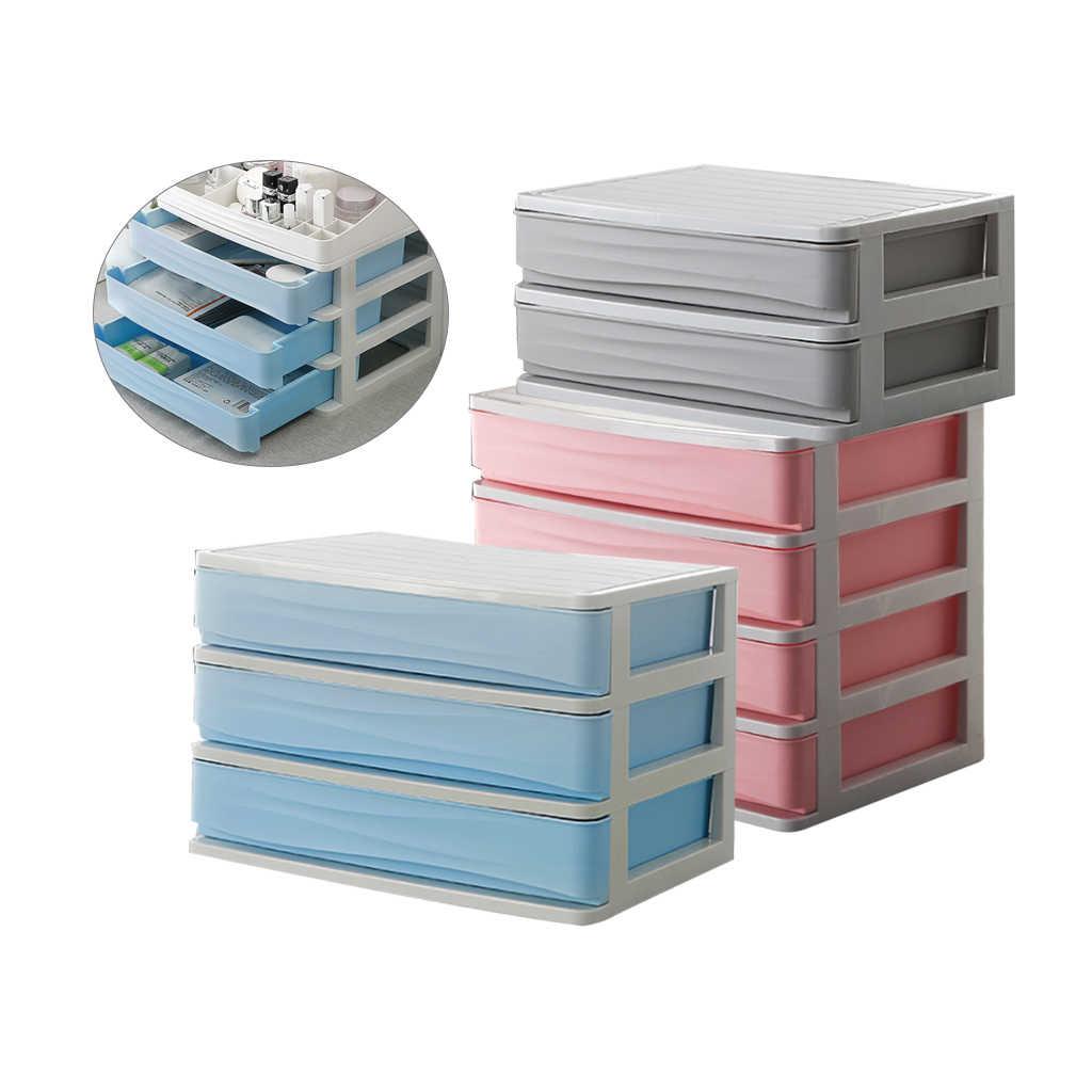 แต่งหน้าลิ้นชักกล่อง Organizer กล่องเครื่องประดับเล็บ Casket ผู้ถือคอนเทนเนอร์ Make Up เครื่องสำอางกล่องคอนเทนเนอร์กล่องใหม่