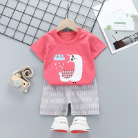 Baby boy clothing set Summer 2pcs kids clothes sets t shirt+pants suit Striped Printed Clothes newborn sport suits 2020