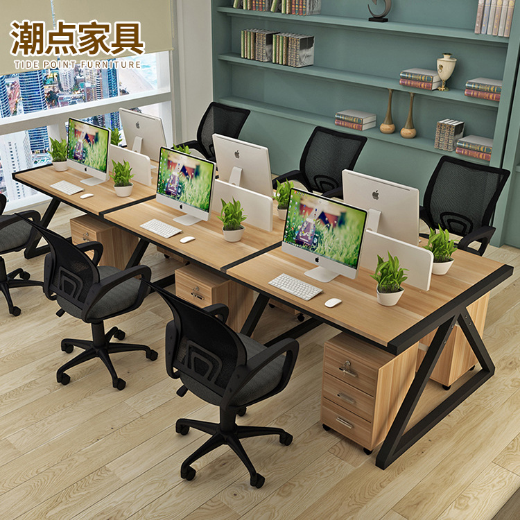 Manufacturers Direct Selling Simple Office Desk Staff Computer Table 2/4/6 Work Position Screen Holder