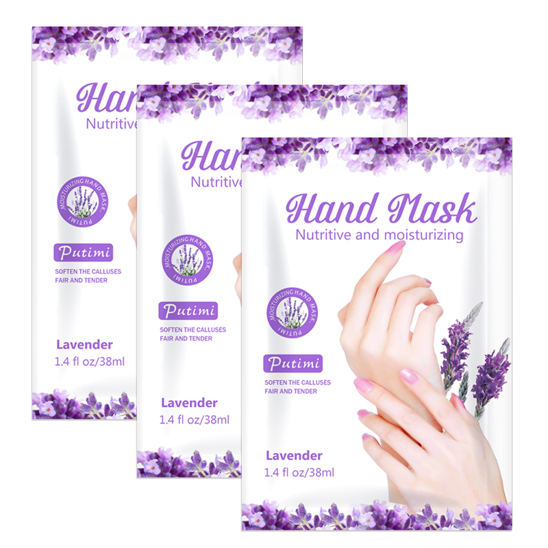 PUTIMI 3packs Hand Mask Lavender Essence Exfoliating Mask for Hands Care Hand Patch Hydrating Dead Skin Remove Spa Gloves Masks
