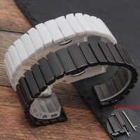 Für Samsung Getriebe S2/S3 uhr strap qualität keramik uhr strap 20mm 22mm luxus metall armband für huawei ver 2