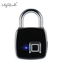 Fechamento Da Impressão Digital Keyless IP65 P3 USB Recarregável Inteligente À Prova D' Água Anti-Roubo de Segurança Cadeado Bagagem Caixa Da Fechadura Da Porta