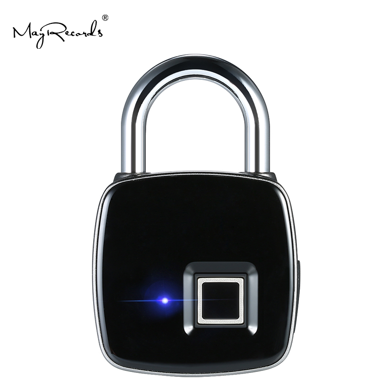 P3 USB Rechargeable Smart Keyless Fingerprint Lock IP65 Waterproof Anti-Theft Security Padlock Door Luggage Case Lock