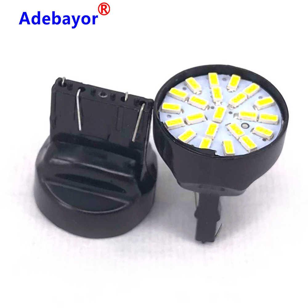 1X T20 22 LED 1206 3014 SMD ampul 7443 yönü gösterge lambası yedekleme dönüş sinyalleri dur parkı ışığı kırmızı beyaz araba aksesuarları