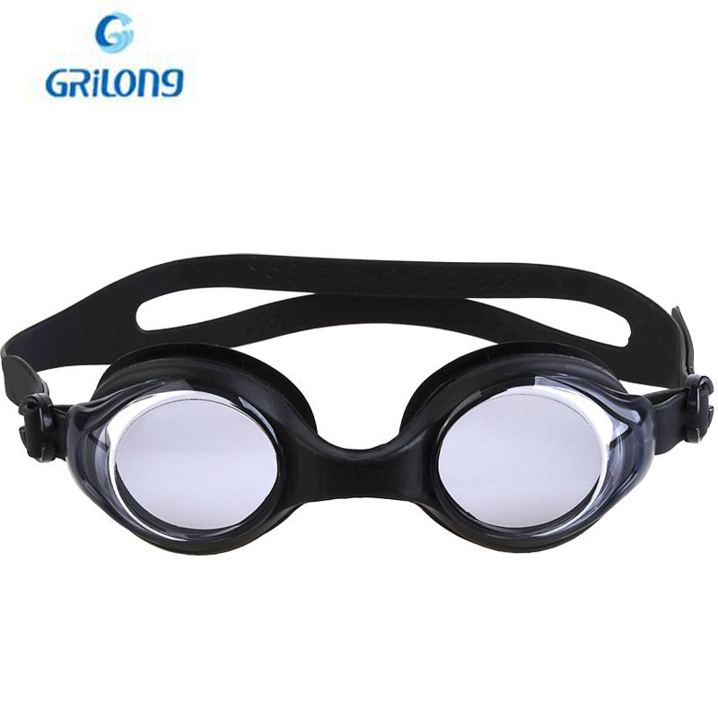 Gelang High-definition Waterproof Anti-fog Swimming Goggles One-piece Silica Gel Swimming Glasses Five-Color Heart Collocation