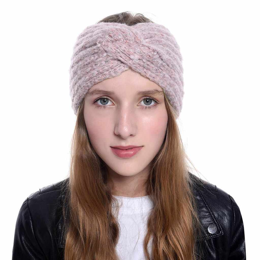 ใหม่ผู้หญิงหญิงอุปกรณ์เสริมผม Headbands ฤดูหนาวผม Braided Headband Warmer Head Wraps Gumki Do Wlosow Turban
