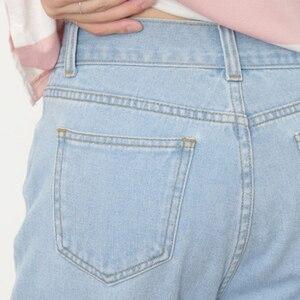Image 5 - ג ינס נשים קיץ גבוה מותניים ישר Slim קוריאני סגנון נשים Streetwear נשי רוכסן כיסים פשוט כל התאמה שיק מכנסיים