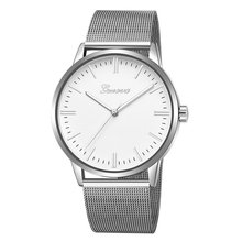 Metal Casual watches Womens Men GENEVA Womens Classic Quartz Stainless Steel Wrist Watch Bracelet Watches quartz leather band watch stainless steel men s watches retro bossy bracelet punk style casual timepiece gifts for men