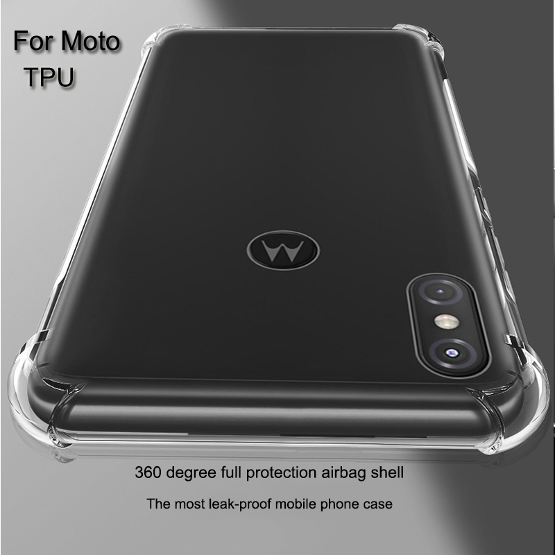 Anti-Knock TPU Case For Moto Z4 G7 One P30 Note Power Z3 E5 Play G6 Plus Thicken Silicone Shockproof Clear Case Back Cover Phone