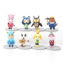 8 Pçs/set Animal Crossing Action Figure Brinquedos KK Isabelle Celeste Figuras PVC Bonito Dos Desenhos Animados Bonecas de Brinquedo Crianças Presentes de Aniversário Das Crianças