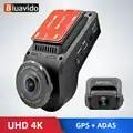 Bluavido 4K 2160P Dash cam with 1080P Rear Camera GPS logger ADAS IMAX323 sensor car Video Recorder Novatek96663 Nightvision DVR