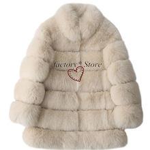 Шуба из лисьего меха пальто искусственного женское платье большого