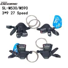 Shimano DEORE 9 S SL M520 M530 M590 ST T660 SLX M660 9 S 27S 9 скоростной рычаг переключения передач для велосипеда MTB Запчасти для велосипеда переключатель передач кабель