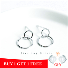 ZOBEI Real S925 Sterling Silver Minimalist Round Bead Classic Drop Earrings For Fashion Women Party Fine Jewelry Accessories