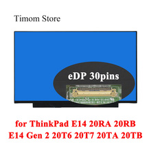 Edp-Screen Led Matrix Lenovo Thinkpad for E14 20ra/20rb Gen 2-type/20t6/20t7/.. LCD Without