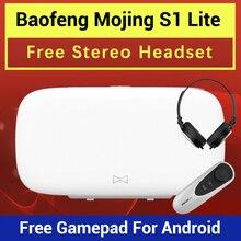 החדש Baofeng Mojing S1 3D משקפיים מציאות מדומה משקפיים VR אוזניות 110 פרנל עדשה + Bluetooth שלט רחוק עבור Smartphone