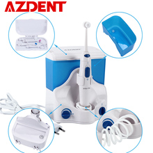 家族電気オーラル洗浄器で歯科フロッサ 4 ヒント 500 ミリリットル容量水ジェット歯口腔灌漑クリーン