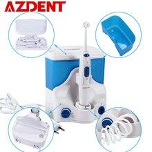 Aile elektrikli Oral Irrigator su diş pensesinde 4 ipuçları ile 500ML kapasiteli su jeti ipi kürdan Oral sulama temiz