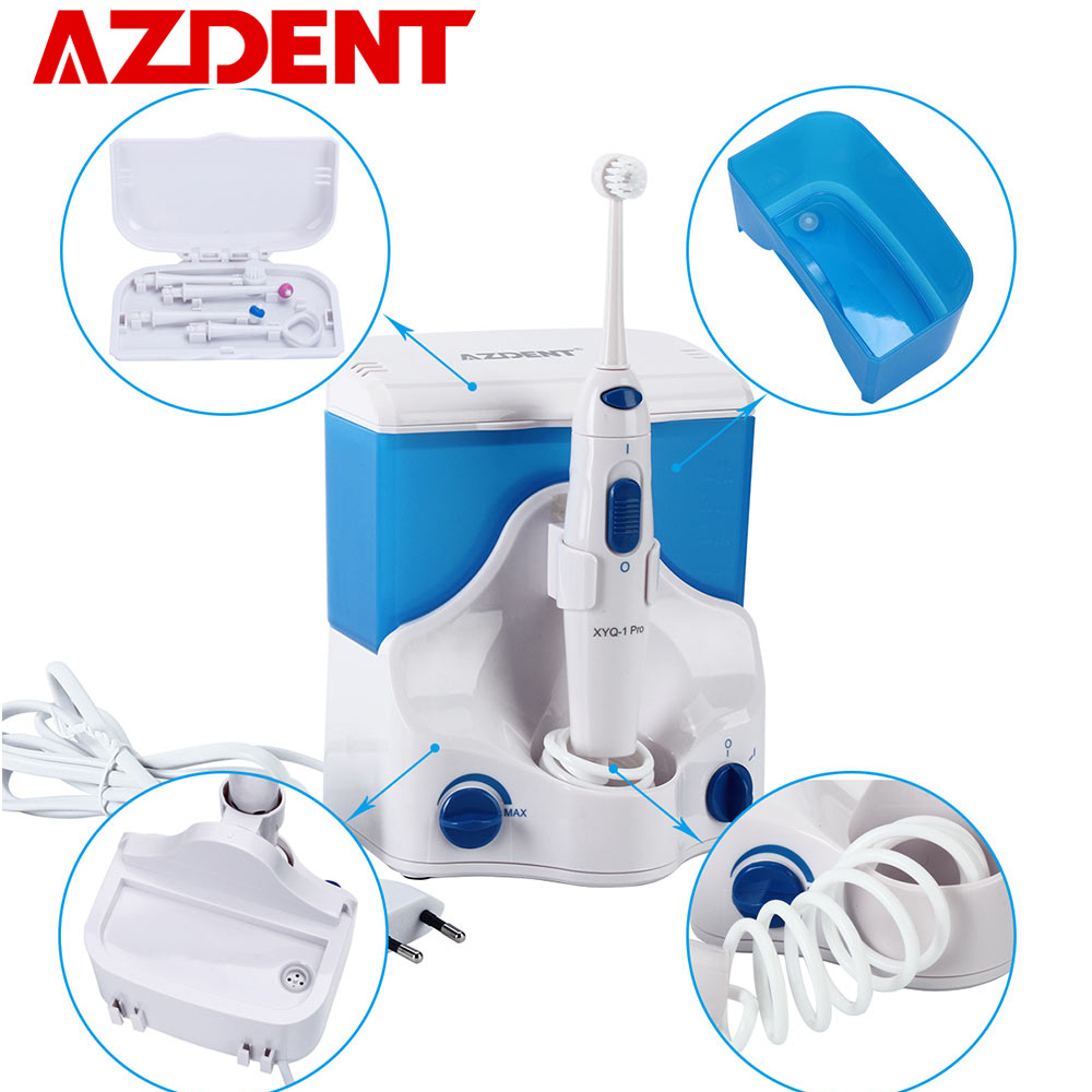 Family Electric Oral Irrigator Water Dental Flosser with 4 Tips 500ML Capacity Water Jet Floss Tooth