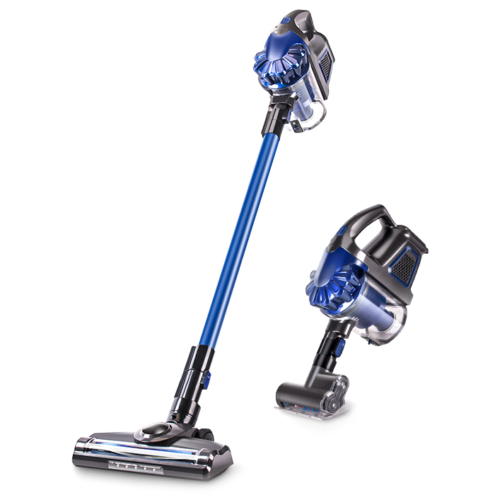 ZEK 2 In 1 Rechargeable Cordless Handheld Vacuum Cleaner 150W 7500Pa Double Motor Two Speed Dust Collector Aspirator LED Light