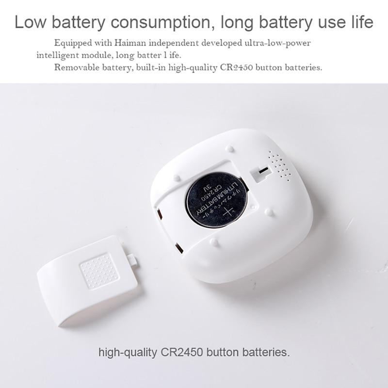 Wireless Zigbee Smart Temperature And Humidity Sensor Detector,Battery Operated