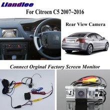 Liislee Back Up Rear View Camera For Citroen C5 2007~2016 Reversing Compatible Original Factory Screen Display Monitor