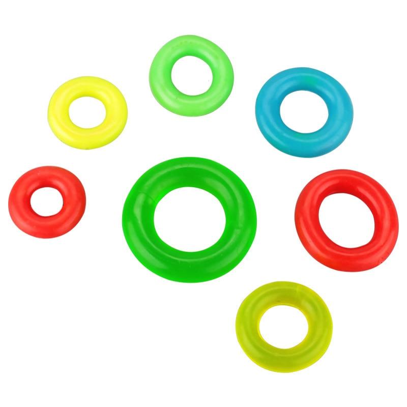 5Pcs/Lot Multiple Colour Fishing Rod Stop Rubber O Shaped Ring Anti-skid Pole Sleeve B318